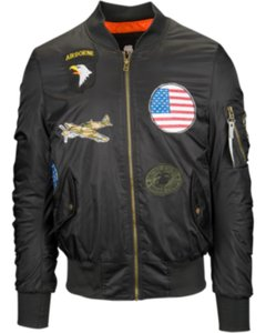American Stitch Patches Bomber Jacket - Men's