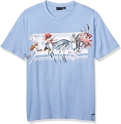 Sean John Men's L'AMOUR Graphic Short Sleeve T-Shirt Light Blue