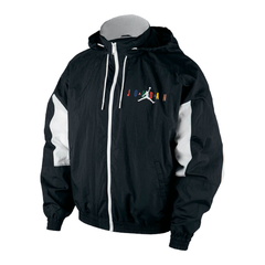 Jordan Sport DNA Windbreaker Track Jacket Black White Multicolor