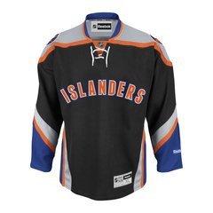New York Islanders Reebok Premier Home Jersey - Black