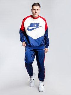 "NIKE NSW NSP WOVEN PANTS ""BLUE/RED"" - MEN'S - tienda online"