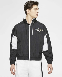 Jordan Sport DNA Windbreaker Track Jacket Black White Multicolor - LoDeJim