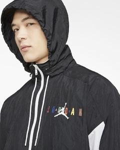 Jordan Sport DNA Windbreaker Track Jacket Black White Multicolor en internet