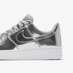 Nike Wmns Air Force 1 SP Metallic Chrome Silver
