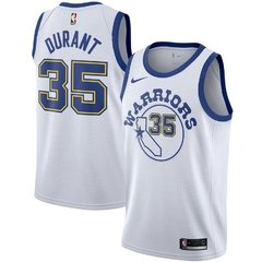 Golden State Warriors Kevin Durant Nike White Fashion Current Player Hardwood Classics Swingman Jersey