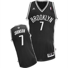 Brooklyn Nets Joe Johnson adidas Black Swingman Away Jersey