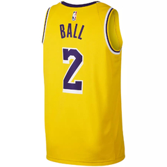 Men's Los Angeles Lakers Lonzo Ball Nike Swingman Jersey - Icon Edition en internet