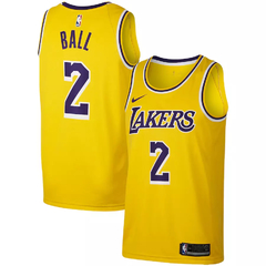 Men's Los Angeles Lakers Lonzo Ball Nike Swingman Jersey - Icon Edition