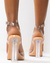 SANDALIAS POINTY CLEAR CON STRASS IRIDISCENTE - WE LOVE NYC