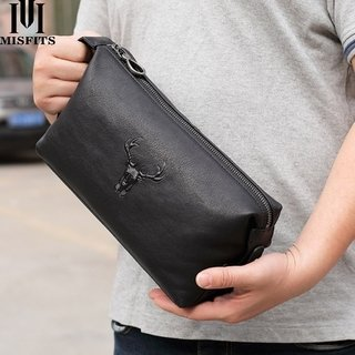 MisFits* 8501 Necessaire Masculina Couro Vintage Alce Style