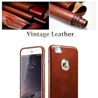 Icarer* 1841-1 Capa iPhone Plus Couro Vintage - Simple Market