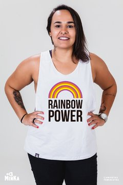 Camiseta Rainbow Power - MinKa Camisetas Feministas