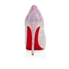 Pump Louboutin New Very Riche Strass salto 14cm. - GVimport