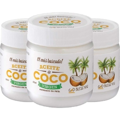 3x Aceite De Coco Virgen God Bless You 225 ml - Prensada En Frío