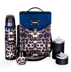 Set de Mate - ANIMAL PRINT BLUE acero Lumilagro