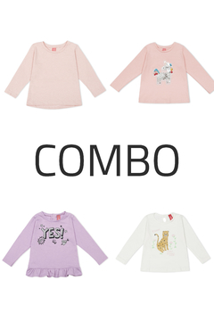 4 Remeras - Kids Girls (Combo 76)