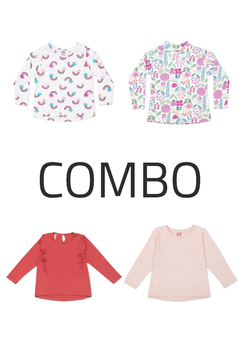4 Remeras - Kids Girls (Combo 78)
