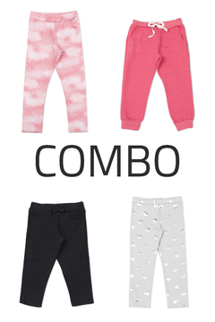 4 Calzas frisadas o Joggings - Kids Girls (Combo 96)