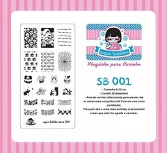 Placa de Stamping Sugar Bubbles SB 001