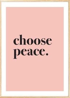 (232) CHOOSE PEACE - EMOTY Wall Deco
