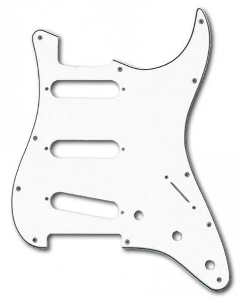 Pickguard Stratocaster Sss Blanco Ds Pickups Ds A21