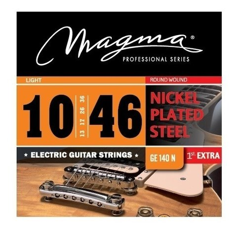 Encordado Guitarra Electrica 10 46 Magma Light Cuerdas