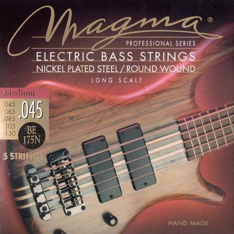Encordado Bajo Electrico 5 Cuerdas Magma .045 .130 Nickel