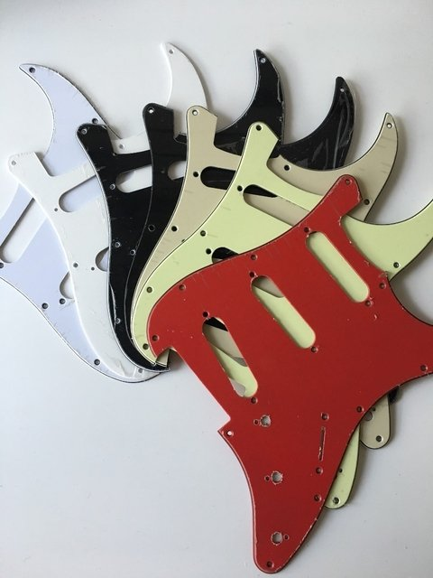Pickguard Stratocaster Sss Colores Lisos