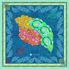 PAÑUELO MANGO TROPICAL - VALISSE · 100% SILK SCARVES · A PIECE OF ART ·