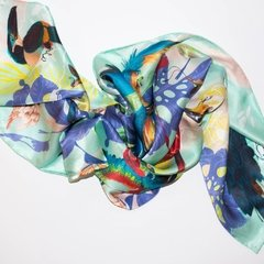 PAÑOLETA VUELO DE AVES - VALISSE · 100% SILK SCARVES · A PIECE OF ART ·