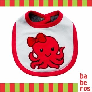 Babero  bordado pulpo