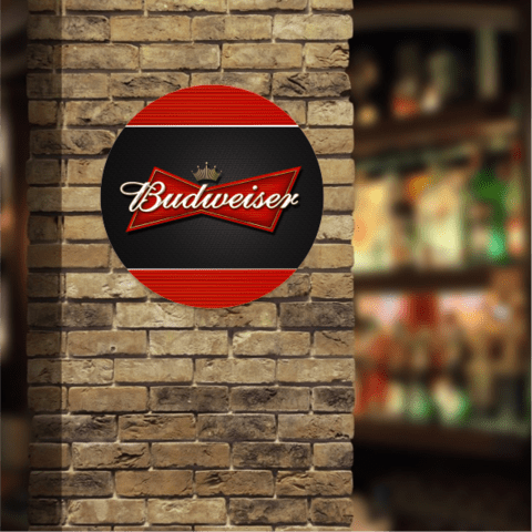 PLACA DECORATIVA BUDWEISER