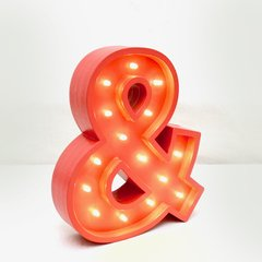 Ampersand madera led A PILAS!! en internet