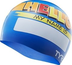 KIDS SILICONE CAP - NAME BLUE