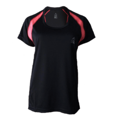 Remera Running DAMA Negro - Black Rock - RRDO