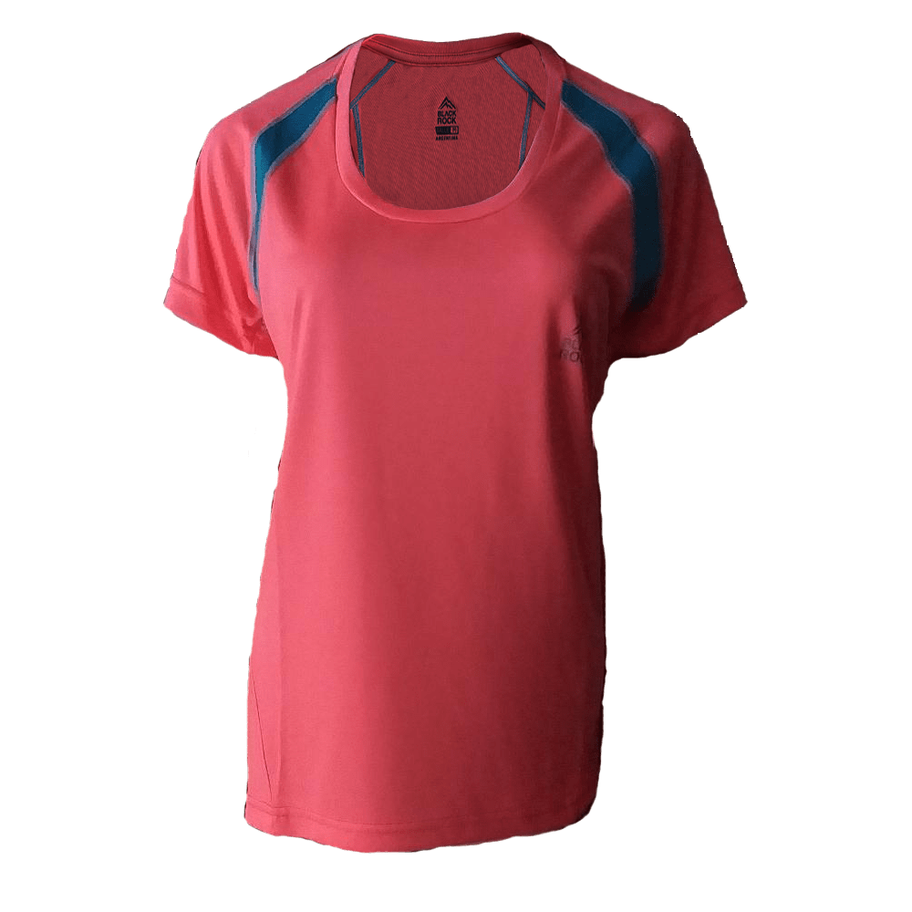 Remera Running DAMA Rosa Fluo - Black Rock - RRDO