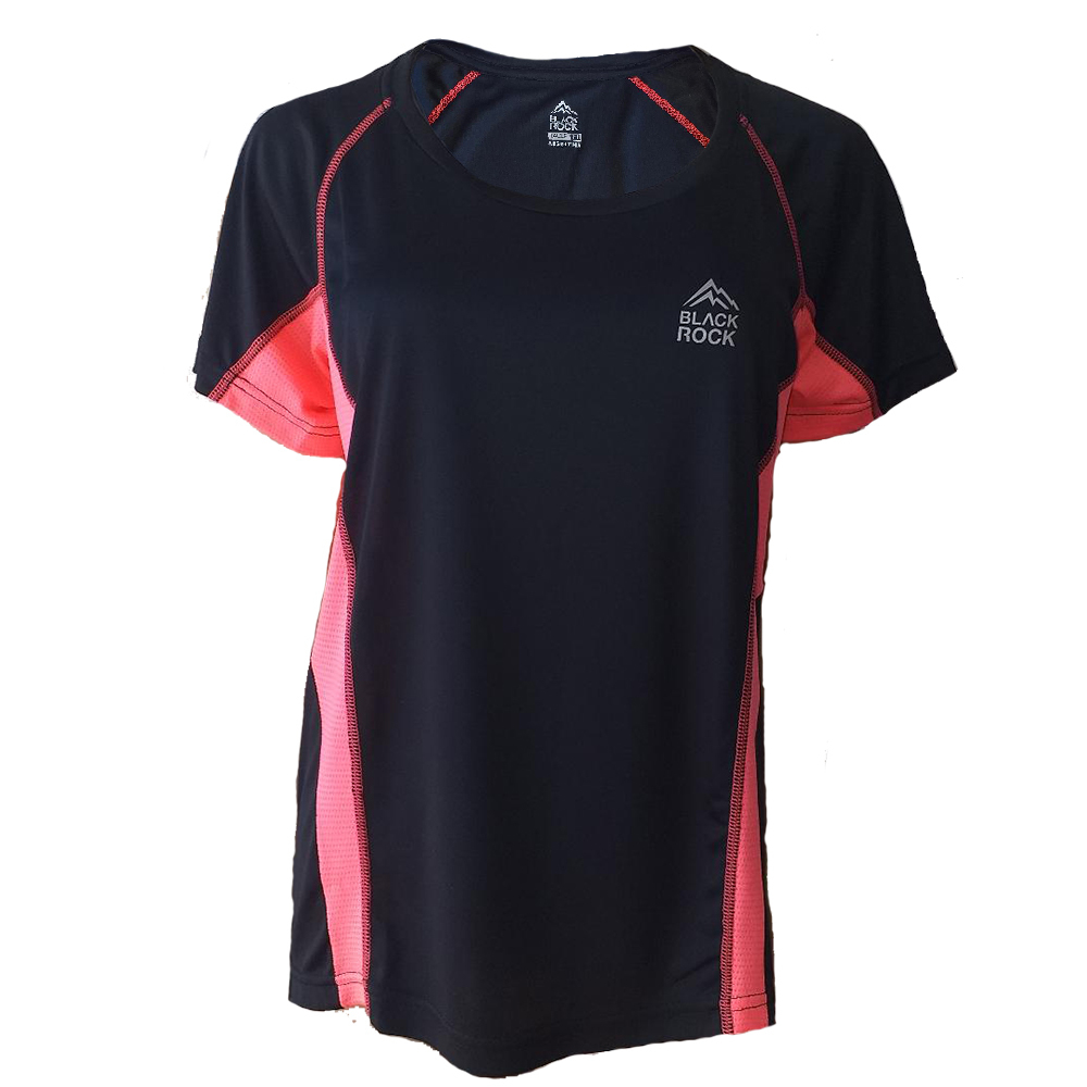 Remera Running DAMA NEGRO - Black Rock - RRDO1