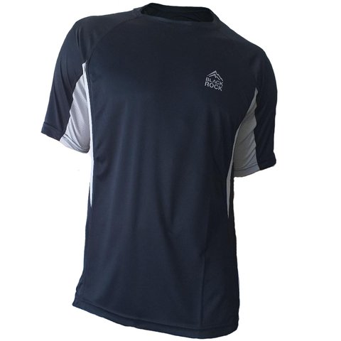 Remera Running CABALLERO Negro - Black Rock -RRH 1