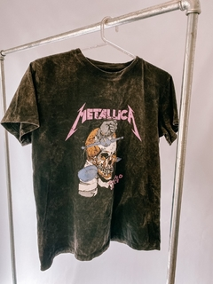 REMERA METALLICA WASH