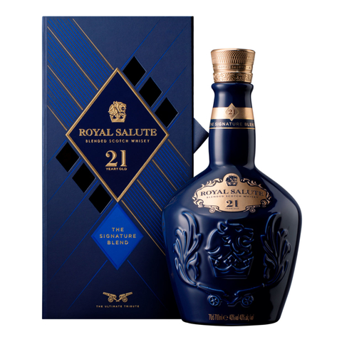 W. CHIVAS REGAL ROYAL SALUTE 21 YEARS EST. RIGIDO