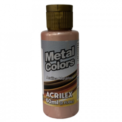 TINTA ACRÍLICA METALICA ROSE GOLD 60ML - ACRILEX