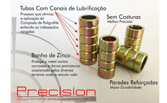 Saveiro G3/g4 - Par Bandeja Com Buchas Pu - 5 Anos Garantia - Precision Suspension Parts