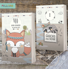 Kit imprimible animalitos del bosque tribal - comprar online