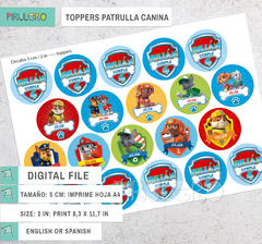 Toppers Patrulla Canina - comprar online