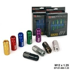 Jdm Lingotes De Alumínio Racing Wheel Lug Nuts P: 1.5, L: 52mm 20 pçs/set TK-650NUTS-L-1.5