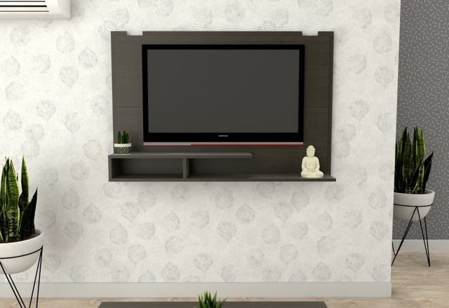 "PANEL TABLES 1041CWH P/TV 56"" LED WENGUE/HABANO"