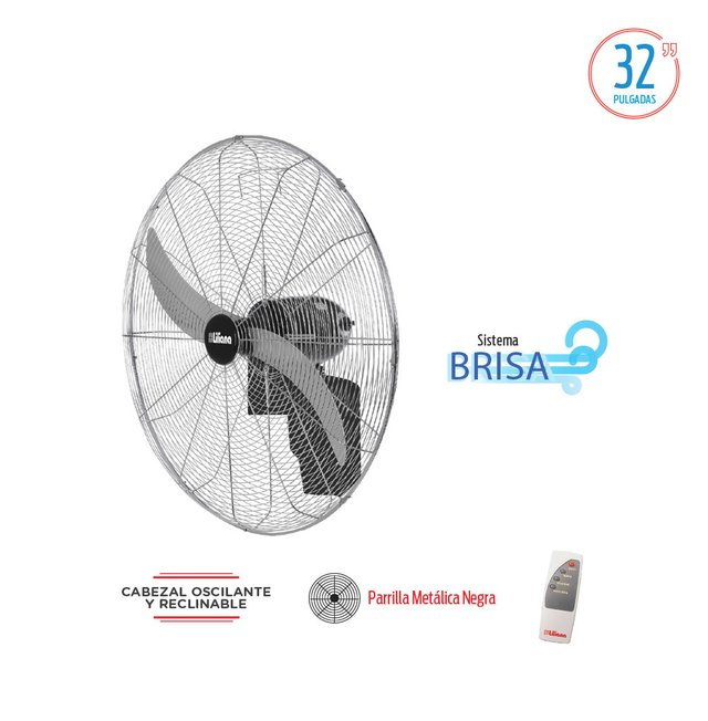 "VENTILADOR PARED LILIANA VWIT32 32"" INDUSTRIAL"
