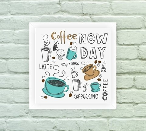 Quadro Decorativo Coffee New Day