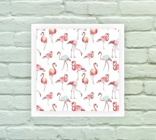 Quadro Decorativo Flamingos