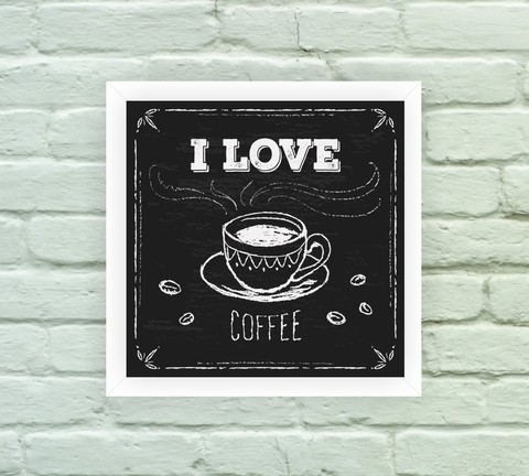 Quadro Decorativo Love Coffee Blackboard - comprar online